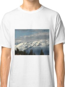 mountains with snow in winter Classic T-Shirt