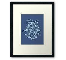 The Sea, She is a Cruel Mistress Framed Print