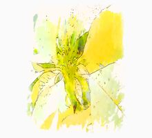 Pale Yellow Poinsettia 1 Serene Unisex T-Shirt