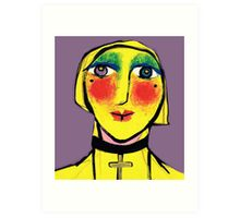 She is no shrinking Violet.. Art Print