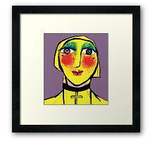 She is no shrinking Violet.. Framed Print