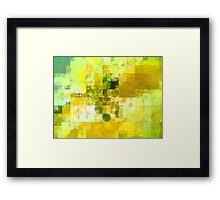 Pale Yellow Poinsettia 1 Abstract Circles 2 Framed Print
