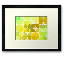 Pale Yellow Poinsettia 1 Abstract Circles 3 Framed Print