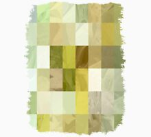 Pale Yellow Poinsettia 1 Abstract Rectangles 3 Unisex T-Shirt