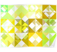 Pale Yellow Poinsettia 1 Abstract Triangles 1 Poster