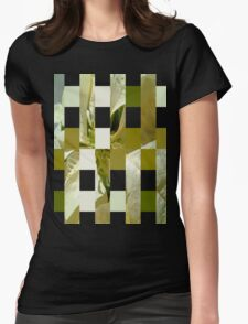 Pale Yellow Poinsettia 1 Art Rectangles 15 Womens Fitted T-Shirt