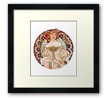 Alphonse Mucha: Art Nouveau Beauty Framed Print