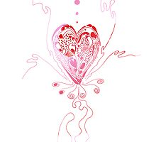 blossoming love in pink by Regina Valluzzi