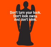 Weeping Angel Warning Kids Clothes