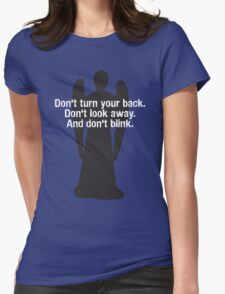 Weeping Angel Warning Womens Fitted T-Shirt