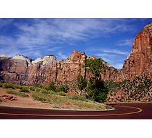 Following the Red Brick Road Photographic Print