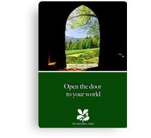 "National Trust ""open the door to your world"" Canvas Print"