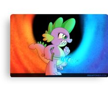 Spike the Warrior (My Little Pony: Friendship is Magic) Canvas Print