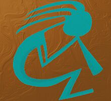 The Teal Kokopelli by OneArtsyMomma