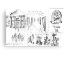 National Trust TV Ad Storyboard Canvas Print