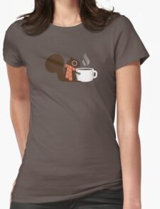 Squirrel Coffee Holiday Womens Fitted T-Shirt