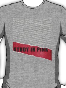 A Study in Pink fan poster T-Shirt