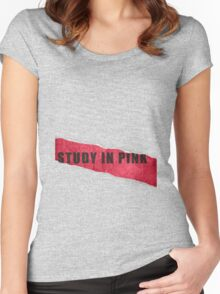 A Study in Pink fan poster Women's Fitted Scoop T-Shirt
