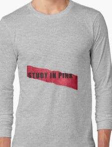 A Study in Pink fan poster Long Sleeve T-Shirt