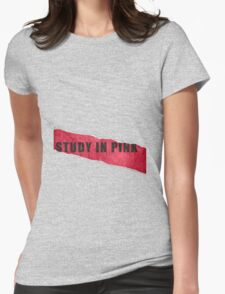 A Study in Pink fan poster Womens Fitted T-Shirt