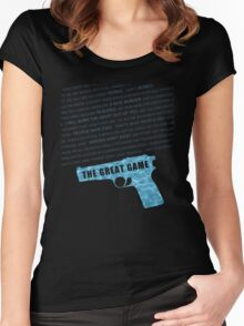 The Great Game fan poster Women's Fitted Scoop T-Shirt