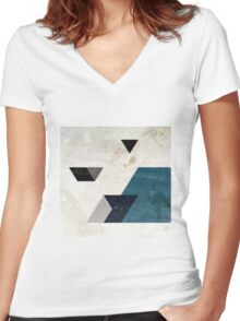 Drop-215 Women's Fitted V-Neck T-Shirt