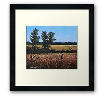 Dorset Countryside Golden Fields in Summer Framed Print