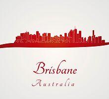 Brisbane skyline in red by paulrommer