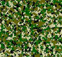 Military camouflage jungle green by KevinStefanoni