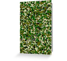 Military camouflage jungle green Greeting Card