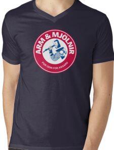 Arm and Mjolnir Mens V-Neck T-Shirt