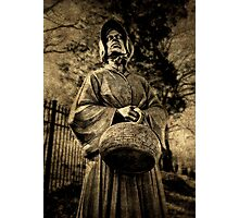 She brought a basket on her visit Photographic Print