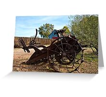 Farming Days are Done Greeting Card