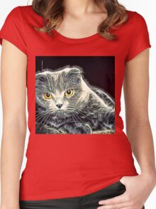 Wild nature - pussy #14 Women's Fitted Scoop T-Shirt