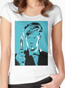 The Eleventh Doctor (Blue) Women's Fitted Scoop T-Shirt