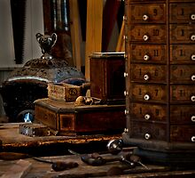 Old Time Woodworking Tools and Bench by Lee Craig