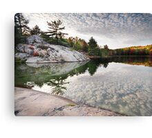 Autumn Nature Lake Rocks and Trees art photo print Canvas Print