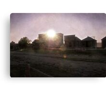 Sun Sets on the Old West Canvas Print