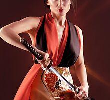 Geisha warrior art photo print by ArtNudePhotos
