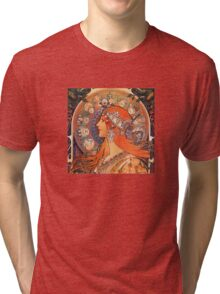 Alphonse Mucha: Zodiac Tri-blend T-Shirt