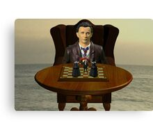 The Time Lord's Chess Manipulation Canvas Print