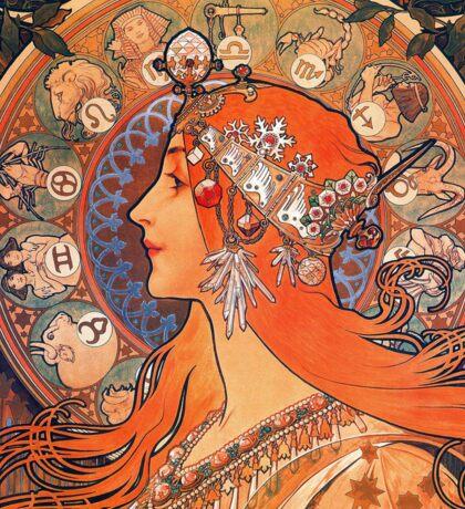 Alphonse Mucha: Zodiac Sticker