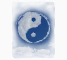 Yin-Yang symbol made of clouds T-shirt design by ArtNudePhotos