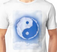 Yin-Yang symbol made of clouds T-shirt design Unisex T-Shirt