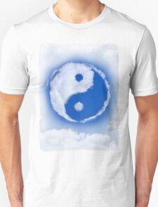 Yin-Yang symbol made of clouds T-shirt design T-Shirt