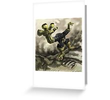 Robotic Monster Greeting Card