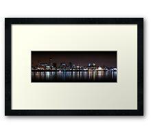 Liverpool Panoramic Skyline At Night Framed Print