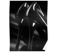 Sexy black high heel shoes closeup art photo print Poster