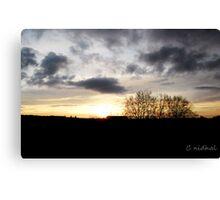 Coucher de soleil sur  le Zenith de Rouen Canvas Print