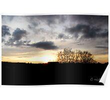 Coucher de soleil sur  le Zenith de Rouen Poster